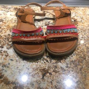 Adorable size 4 colorful sandals